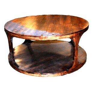 Bargain Wotring Well-Designed Round Wooden Coffee Table by Millwood Pines