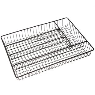 Affordable Price Carter Iron Works 5 Compartments Cutlery Tray 2.5 H x 16.25 W x 12.25 D Drawer Organizer By Rebrilliant