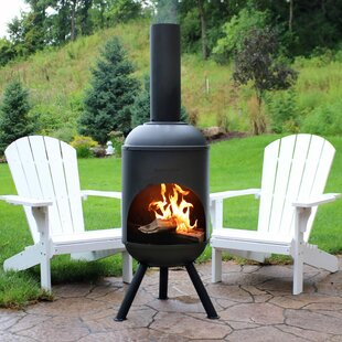 Charmant Raymon Outdoor Steel Wood Burning Chiminea