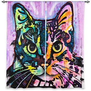 Lanesboro Dean Russo's Window Maya Cat Room Darkening Curtain Panels (Set of 2)