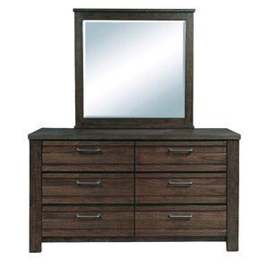 Tioga 6 Drawer Dresser by Gracie Oaks