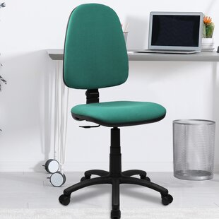 High-Back Task Chair  With Lumbar Support By Symple Stuff