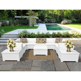 Monaco 12 Piece Sectional Seating Group with Cushions By TK Classics