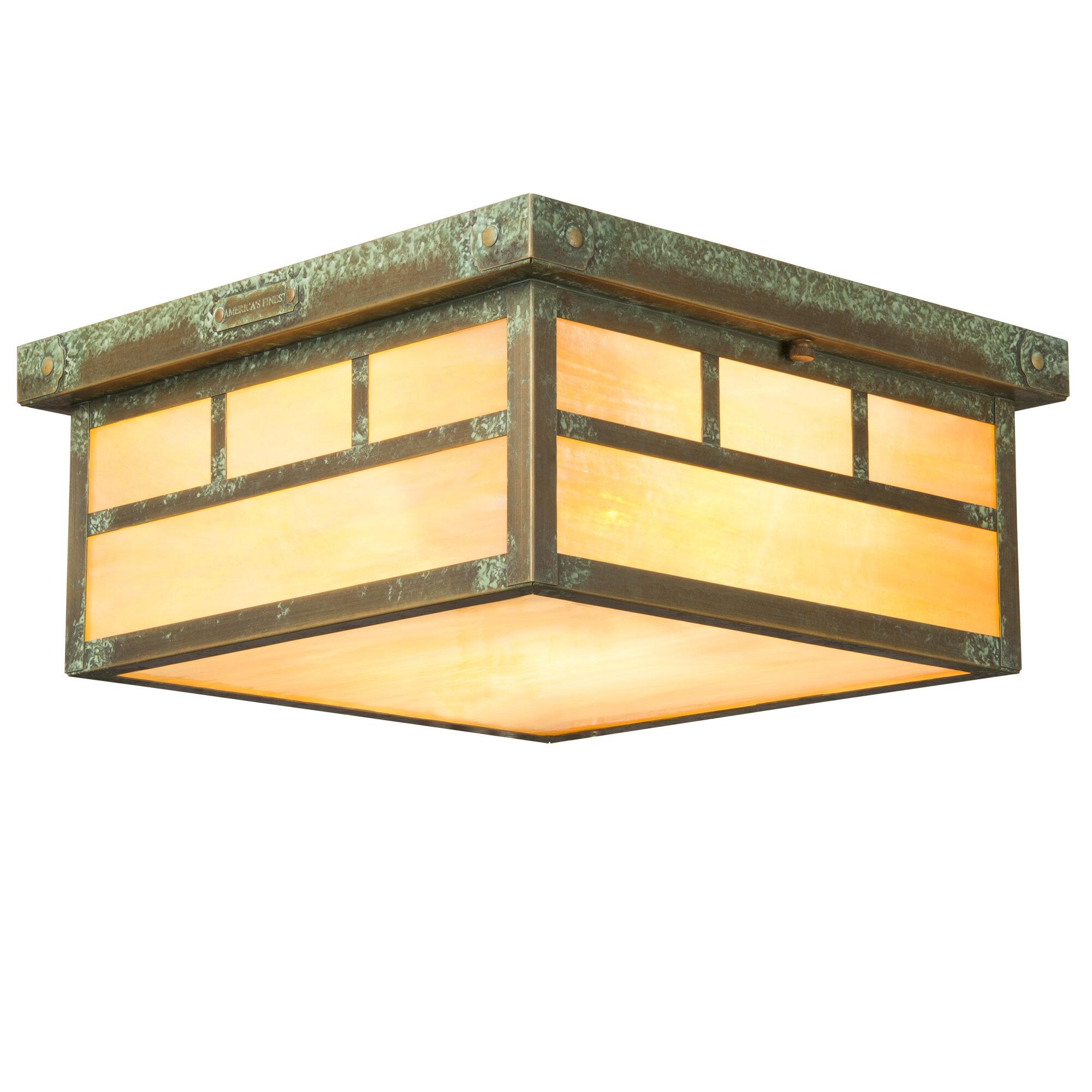 Millwood Pines Emond 1 Light 7 75 Lantern Square Flush Mount Wayfair