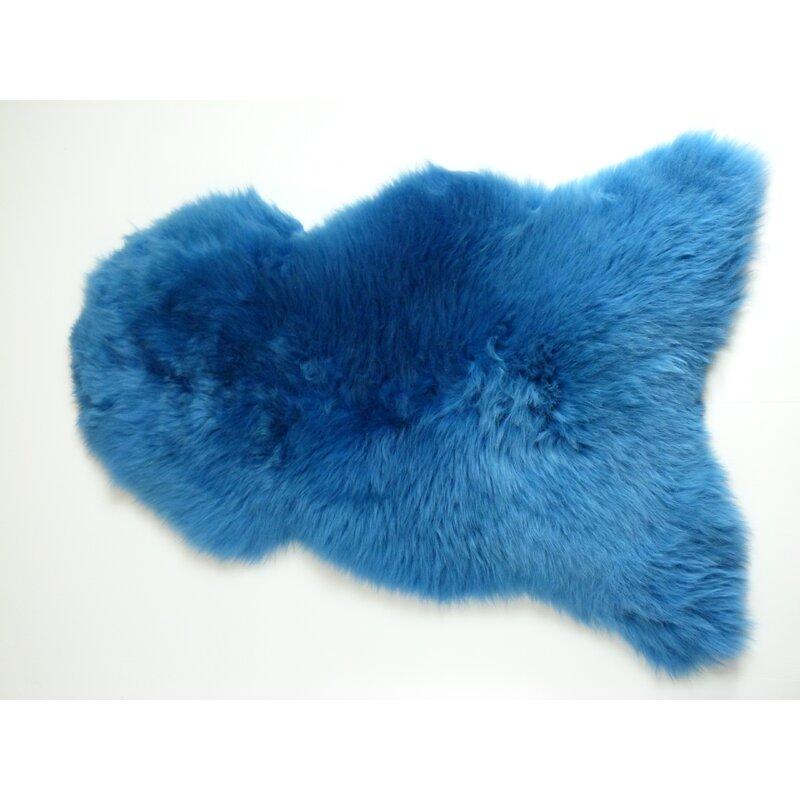 Aerial Sheepskin Azure Blue Rug