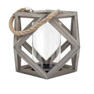 Wood Lantern Candle Holder