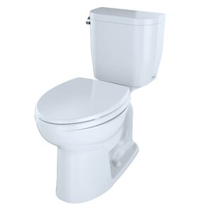 Entrada 1.28 GPF Elongated Two-Piece Toilet (Seat Not Included) by Toto