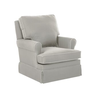 Gwinnett Swivel Glider with Contrasting Welt