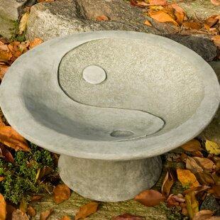 Campania International Yin Yang Pedestal Birdbath