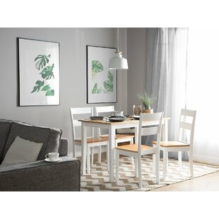 Seabrook 5 Piece Solid Wood Dining Set by August Grove