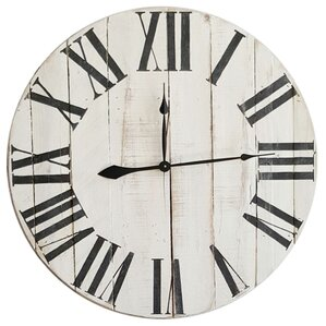 rustic roman white extra large wall clock