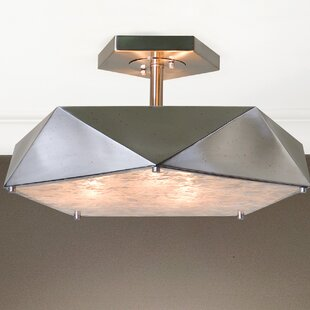 Ontiveros 3-Light Semi Flush Mount by Brayden Studio