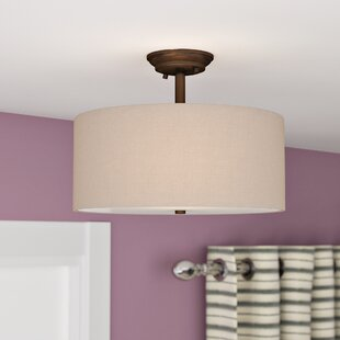 Steuben 3-Light Semi-Flush Mount by Red Barrel Studio