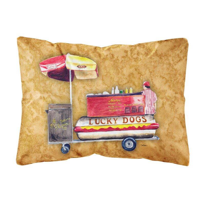 Caroline S Treasures Hot Dog Indoor Outdoor Throw Pillow Wayfair