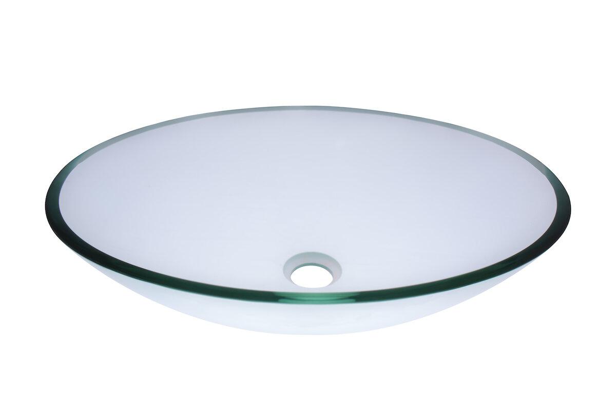 Novatto Ovale Glass Oval Vessel Bathroom Sink | Wayfair