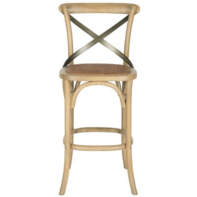 Magnificent August Grove Lorna 2952 Bar Stool Frame Color Weathered Oak Bralicious Painted Fabric Chair Ideas Braliciousco
