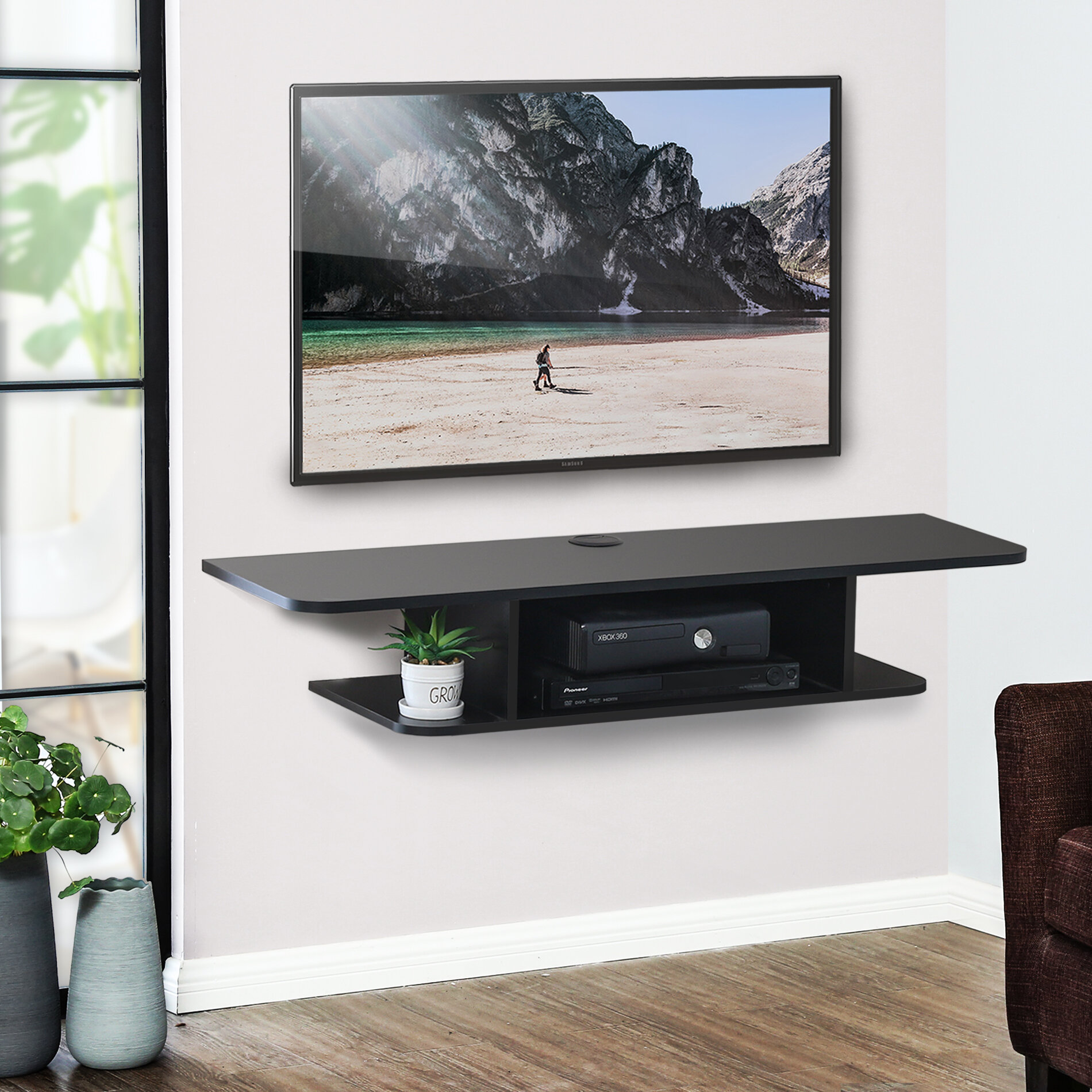 The Twillery Co Aaliyah Floating Tv Stand For Tvs Up To 50 Reviews Wayfair