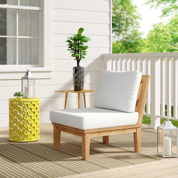 Shop Elaina Teak Patio Chair with Cushions from Wayfair on Openhaus