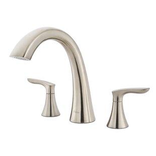 Comparison Weller Double Handle Deck Mount Roman Tub Faucet ByPfister