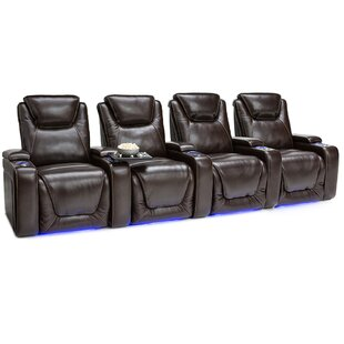 Leather Home Theater Row Seating (Row of 4) Latitude Run