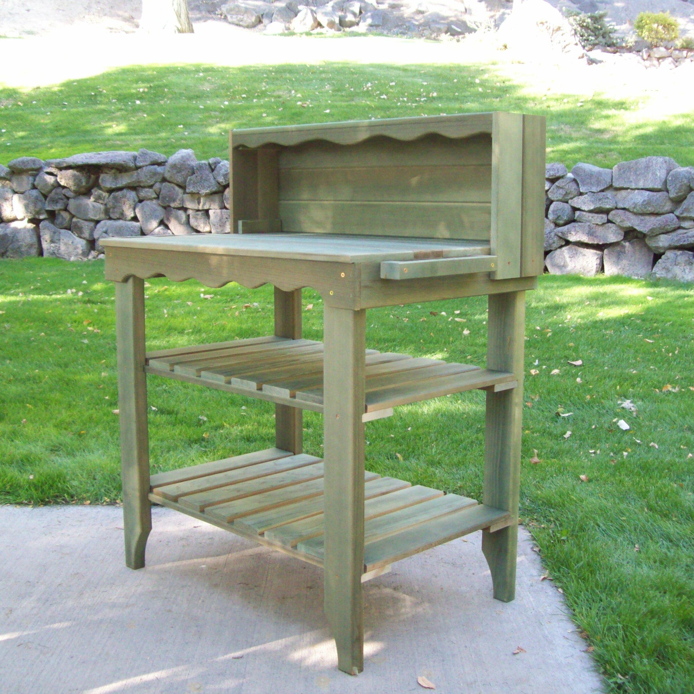 Deluxe Cedar Potting Bench