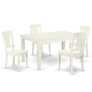 Kuhlman 5 Piece Extendable Solid Wood Dining Set