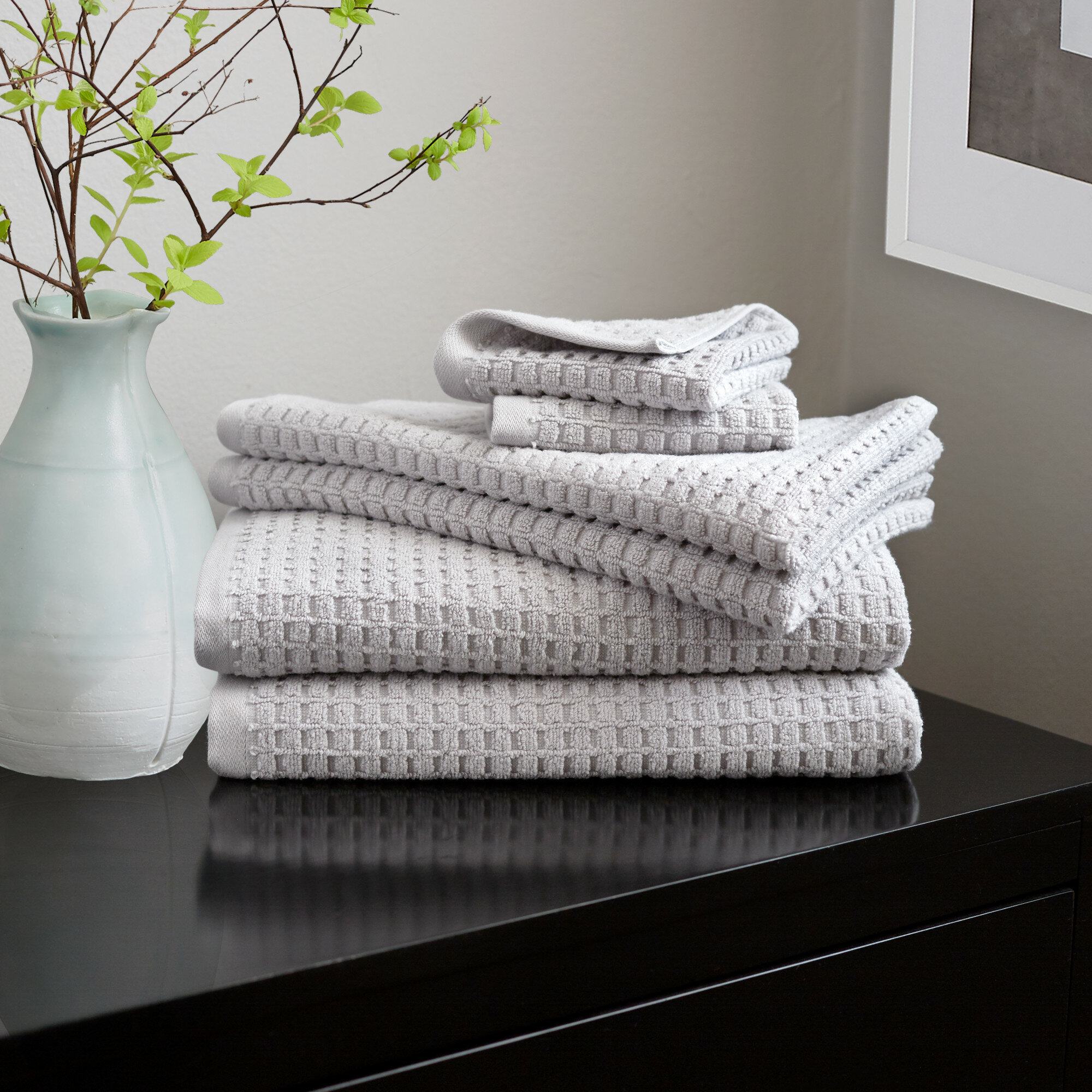 Dkny Quick Dry 6 Piece 100 Cotton Towel Set Reviews Wayfair