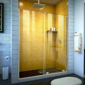 Arizona Shower Door Scottsdale 51 X 72 Hinged Frameless Shower Door With Invisible Shield By Clean X Wayfair