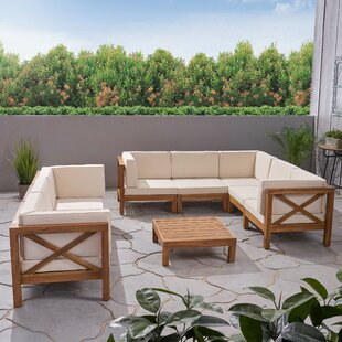 Abbie 8 Piece Sectional Seating Group with Cushion