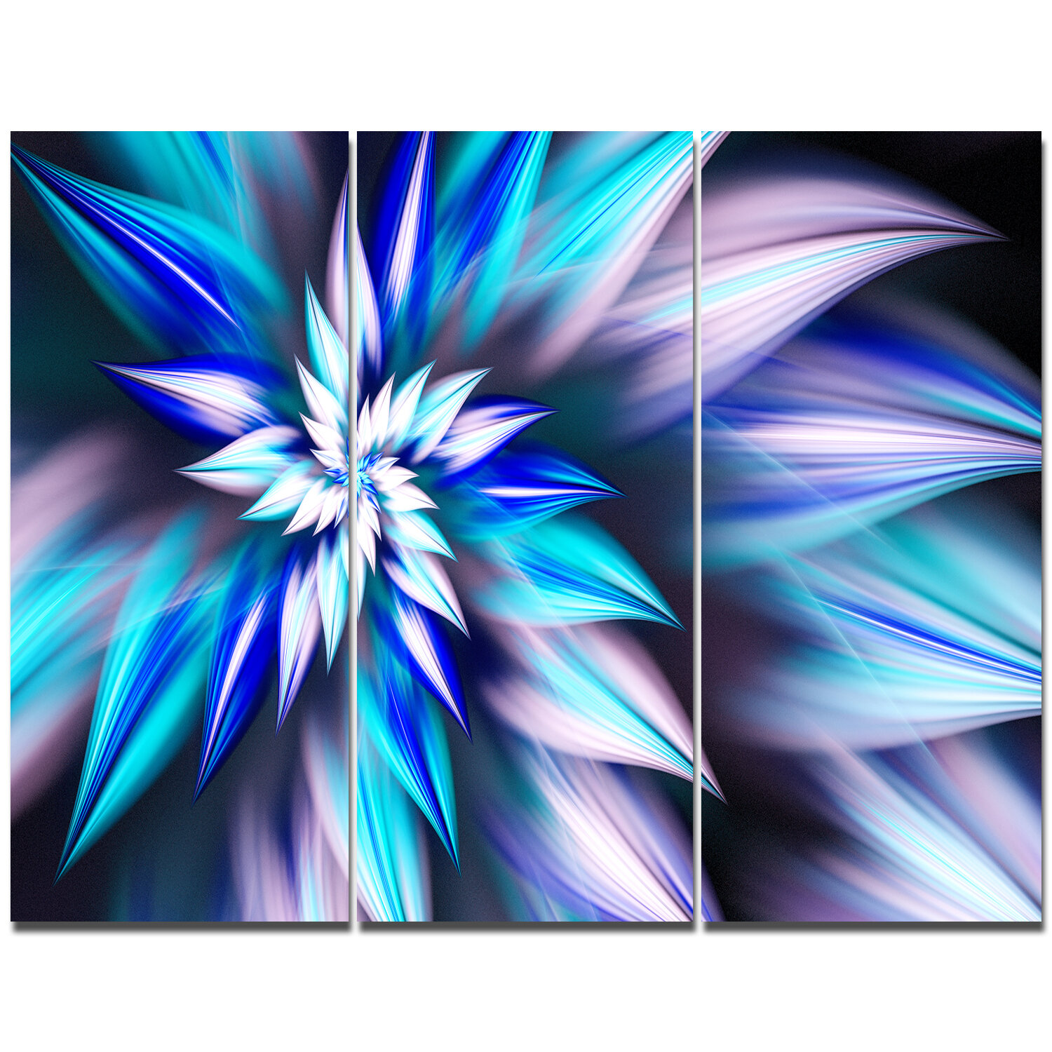 Designart dancing light blue flower petals graphic art print multi designart dancing light blue flower petals graphic art print multi piece image on canvas wayfair izmirmasajfo