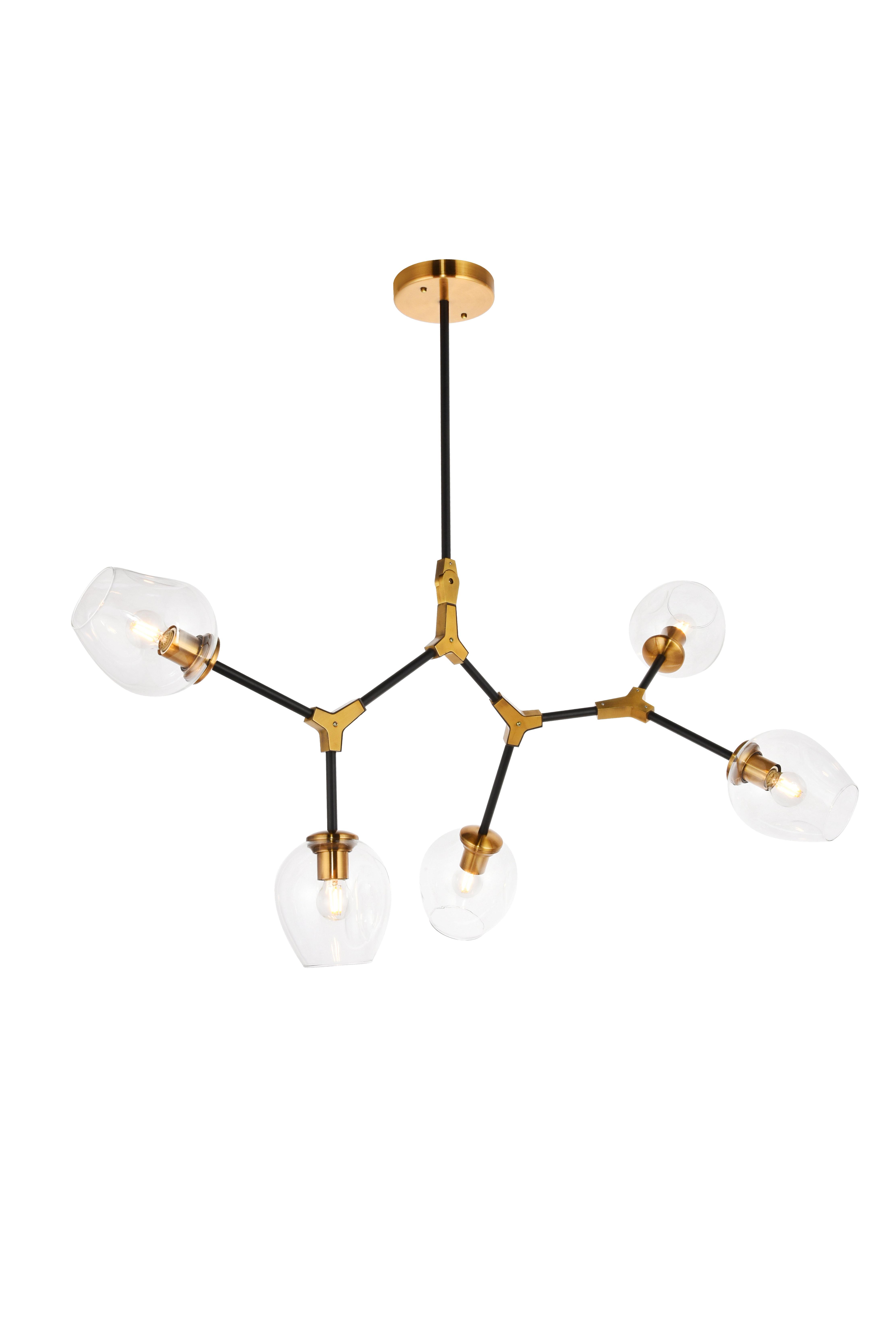 Ulrey 5 Light Sputnik Modern Linear Chandelier Reviews Joss Main