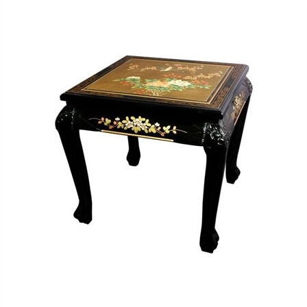 Oriental Furniture Chinese End Table U0026 Reviews   Wayfair