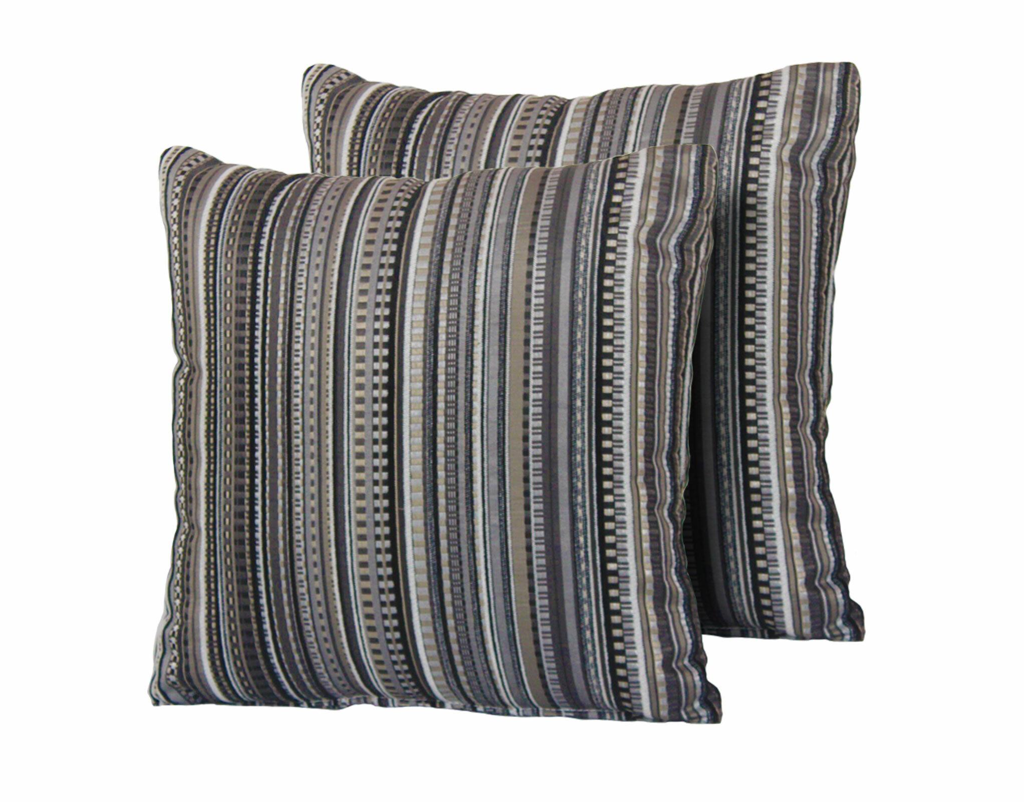 Moravia Stripe Square Outdoor Throw Pillow