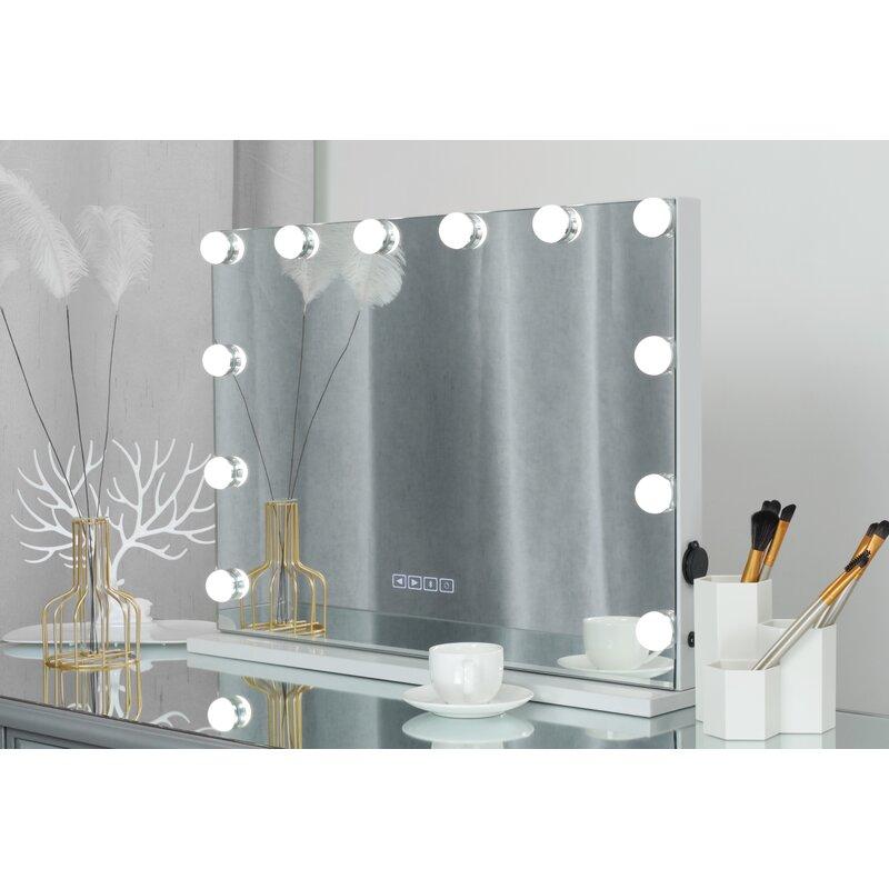 Azeez Led Bluetooth Large Vanity Mirror