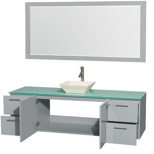 Amare 72 inch  Wall-Mounted Single Bathroom Vanity Set with Mirror