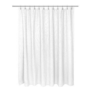 Hamblin Waffle Weave 100% Cotton Single Shower Curtain By Carnation Home Fashions