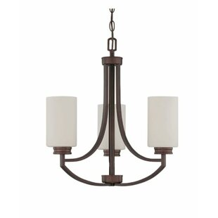 Winston Porter Woolverton 3-Light Shaded Chandelier