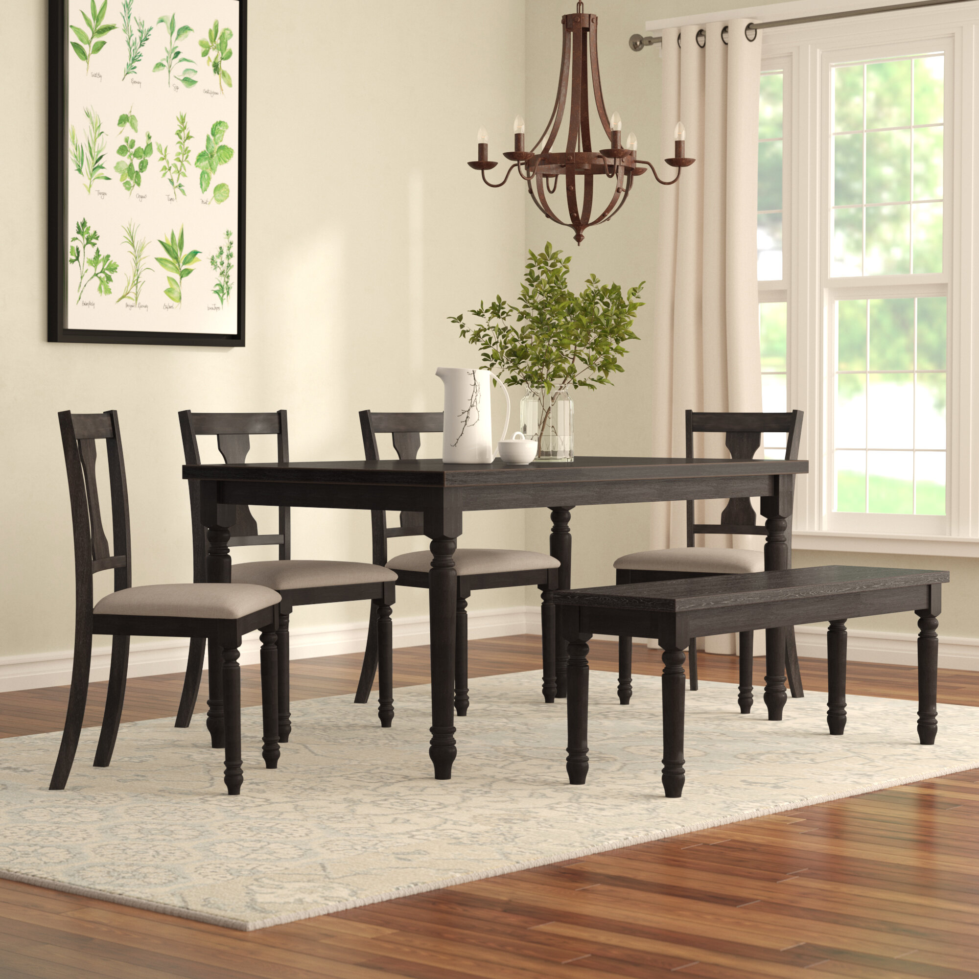 Beautiful One Allium Way Ines 6 Piece Dining Set U0026 Reviews | Wayfair