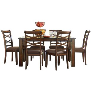 Honey Crossback 7 Piece Dining Set Andover Mills