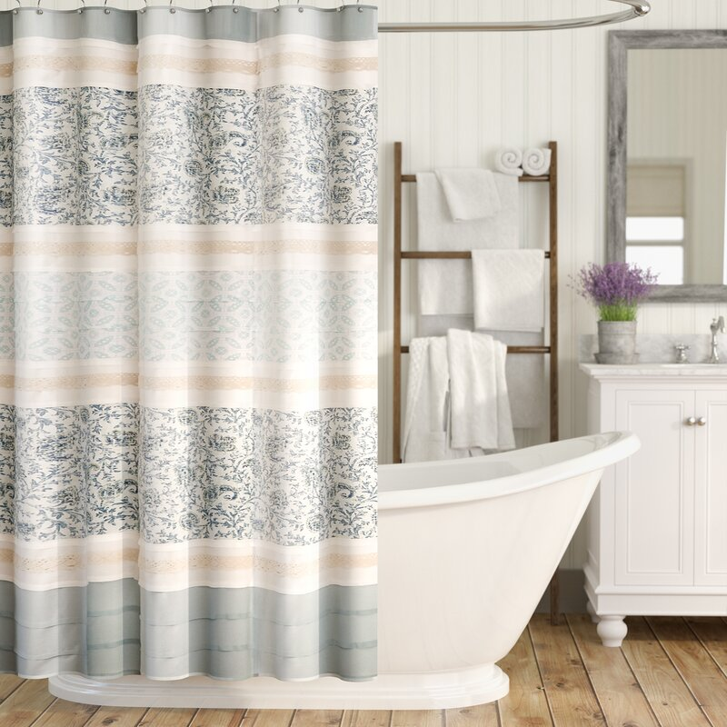 Shower Curtains.Hailee Cotton Single Shower Curtain