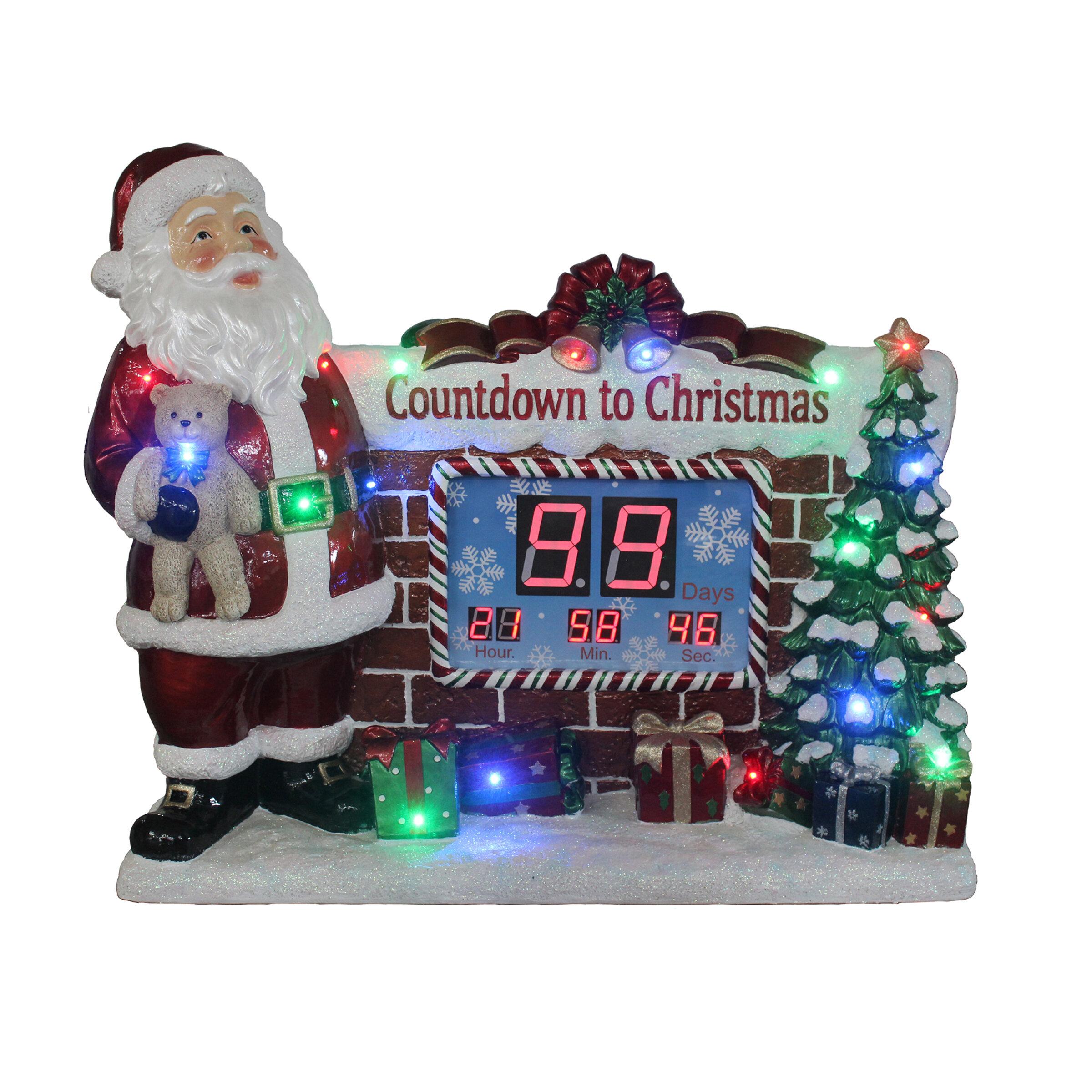 the holiday aisle christmas countdown clock wayfair