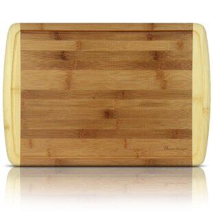Organic Bamboo Cutting Board and Serving Tray with Drip Groove