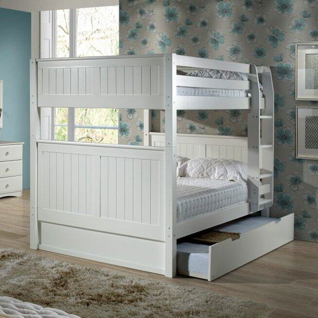amani traditional full over full bunk bed with trundle
