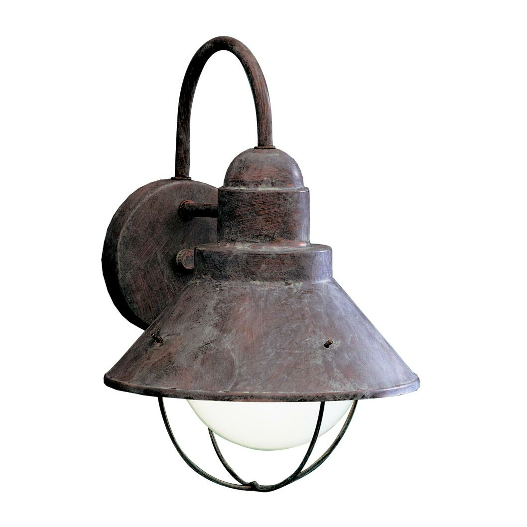 Goodyear 1 Light Outdoor Barn Light: Longshore Tides Castro 1-Light Outdoor Barn Light