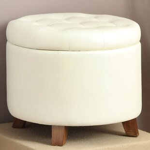 Groovy White Fuzzy Storage Ottoman Wayfair Onthecornerstone Fun Painted Chair Ideas Images Onthecornerstoneorg