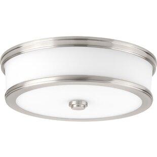 Online Reviews Vanderhoof 1-Light LED Flush Mount By Winston Porter
