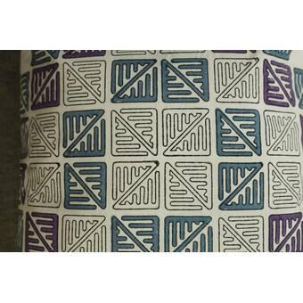 Bungalow Rose Boyett Faux Fur Geometric Throw Pillow Wayfair
