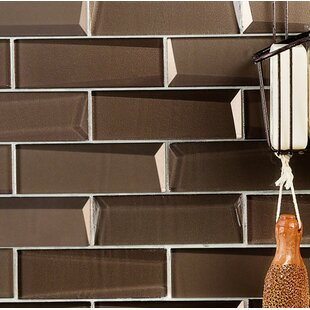Wister 2 X 6 Beveled Gl Mosaic Tile In Bronze