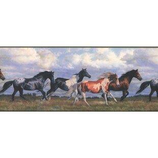 Fagin Horses Running Wild Sky 975 L X 180 W Wildlife Wallpaper Border