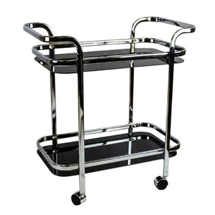 Garica Contemporary 2 Tiered Bar Cart by Ebern Designs